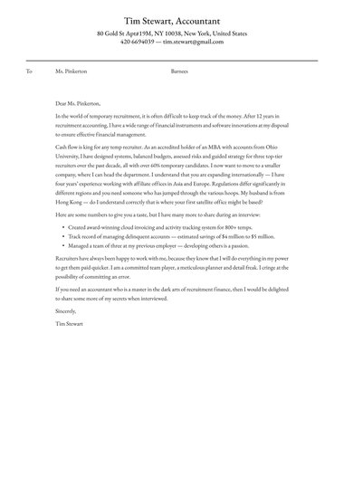 Free Cover Letter Templates Try Now Resume Io