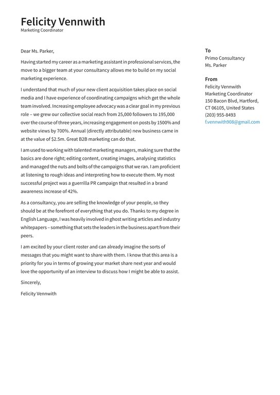 Marketing Coordinator Cover Letter Examples Expert Tips Free