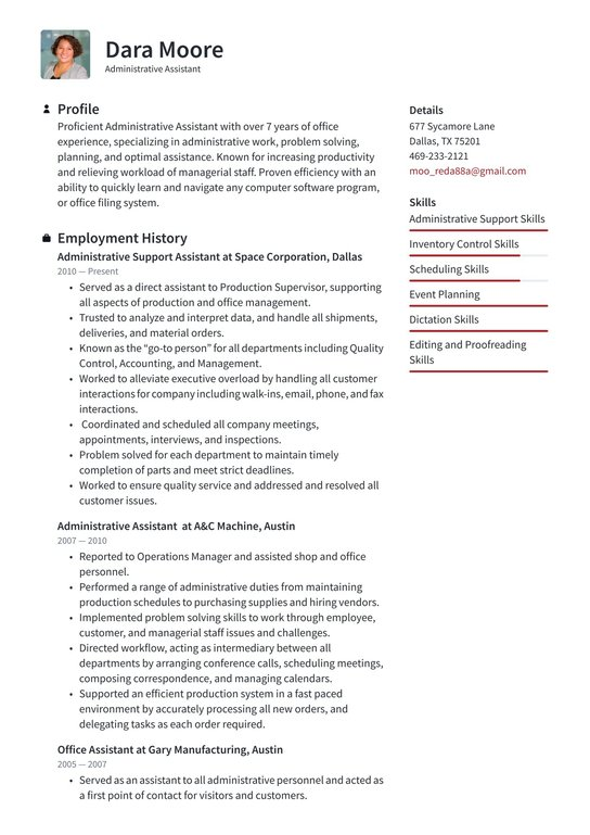 Administrative assisstant resume top paper writers for hire us