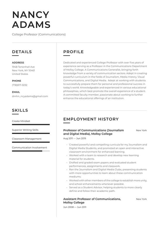 College professor resume templates free admission proofreading website us
