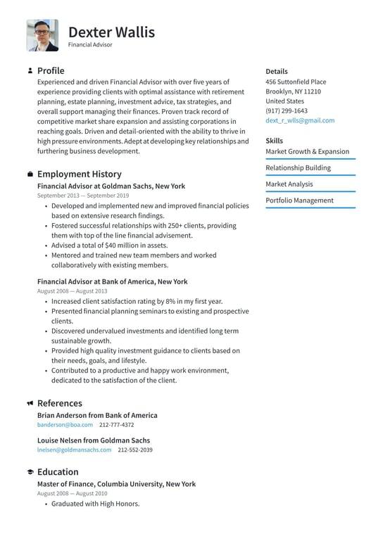 personal finance teaching responsiblities resume