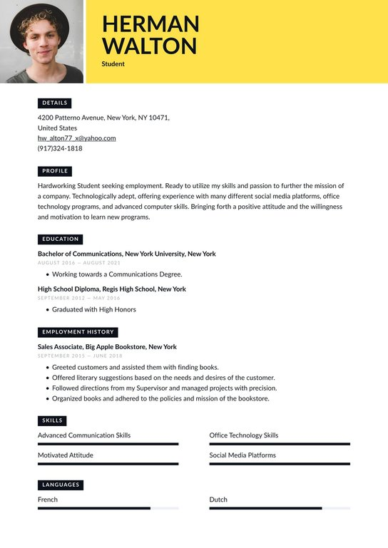 Best sample resume student resumes my ambition to become a doctor essay for kids