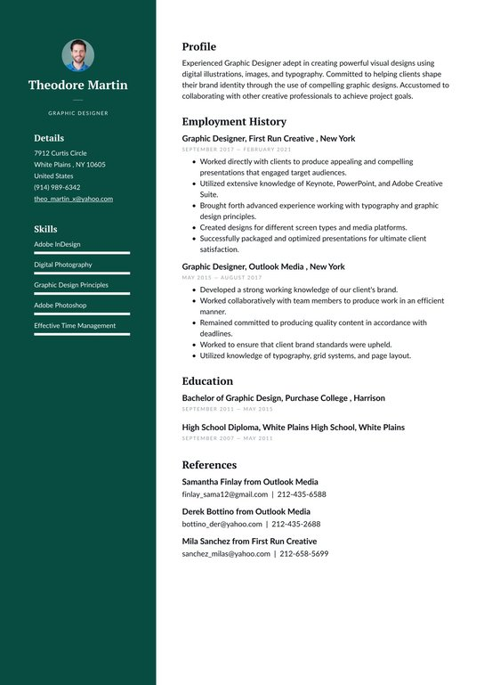 Graphic Designer Resume Examples Writing Tips 2021 Free Guide