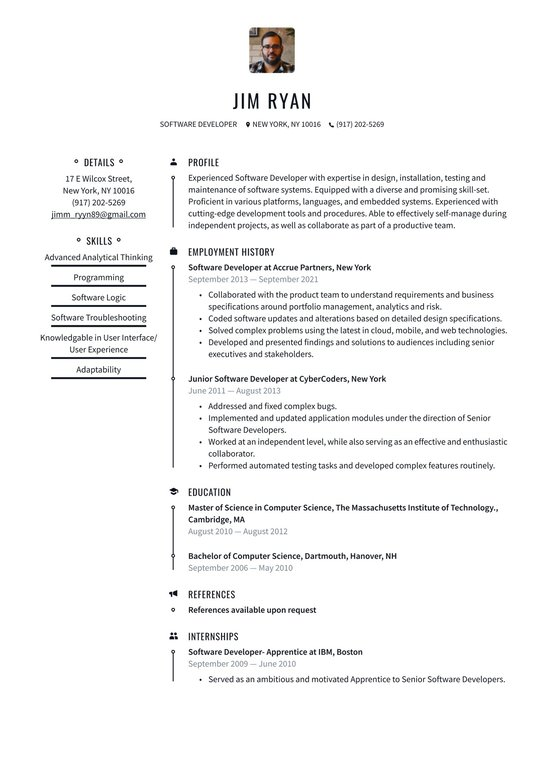 Good resume objective for software developer sample cover letter bus driver position