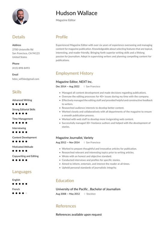 resume editor how to