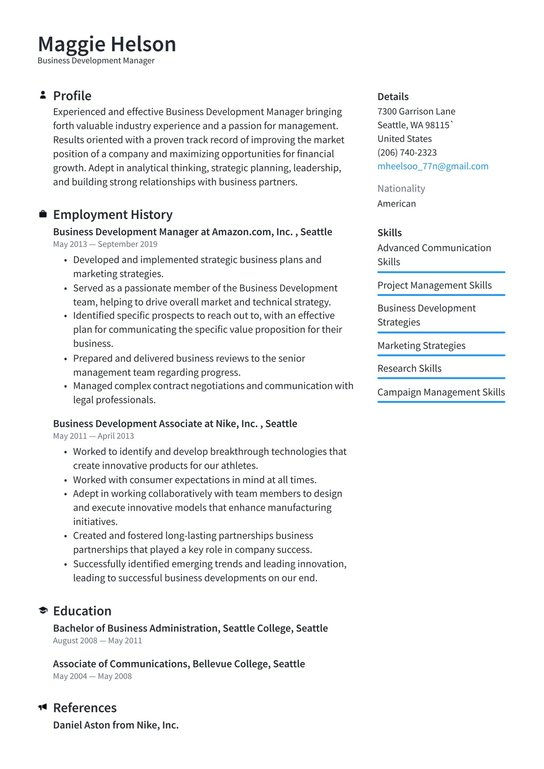 Resume director business development social thesis