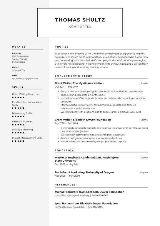 Sample resume for grant writing cheap resume proofreading websites gb