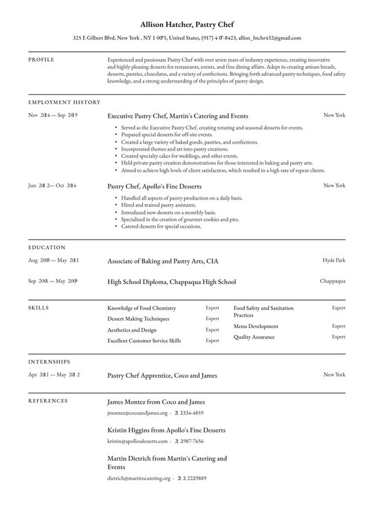 Pastry chef professional resume romeo and juliet theme analysis essay