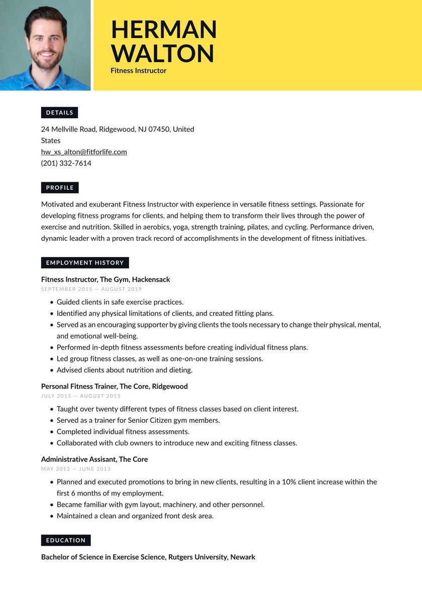 Fitness instructor resume objective apa format essay in text citation