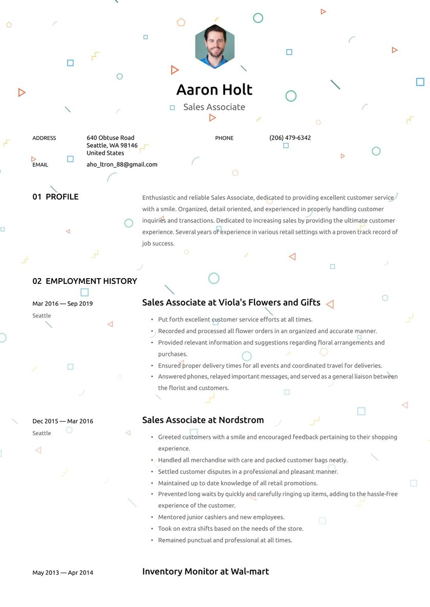Sales Associate Resume Examples & Writing tips 30 Free Guide