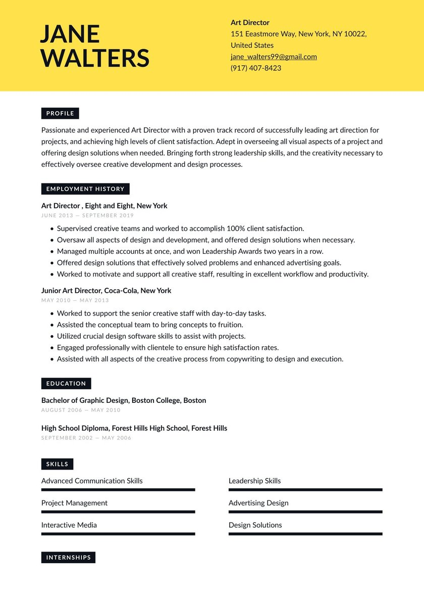 Art curriculum director experience resume submit tip vitae sample car wash business plan