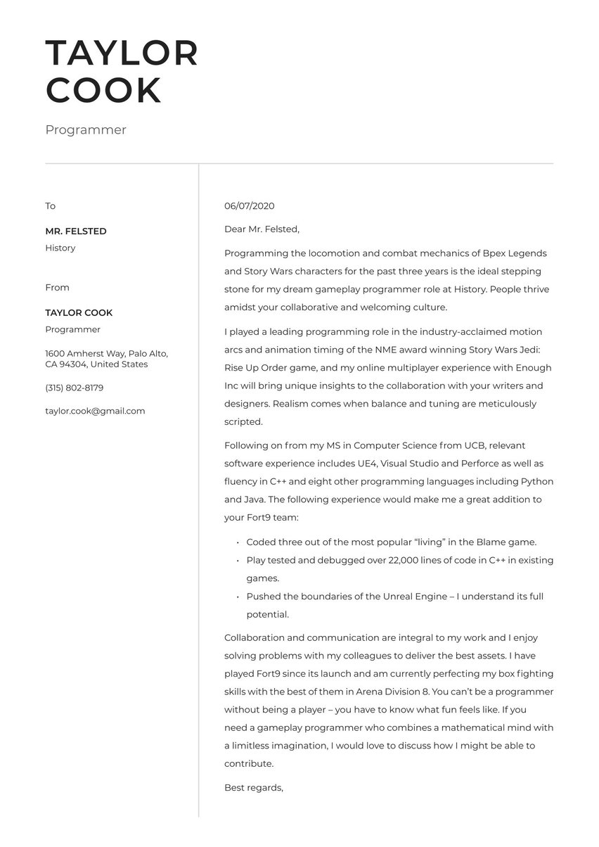 Free Cover Letter Builder Land That Dream Job Faster Try For Free