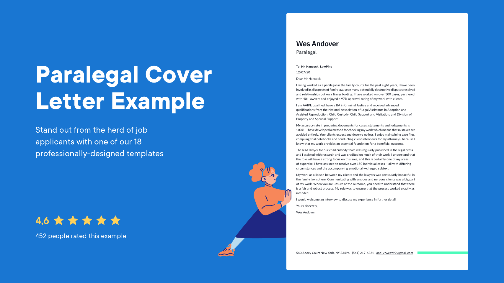 Paralegal Cover Letter Examples Expert Tips Free Resume Io