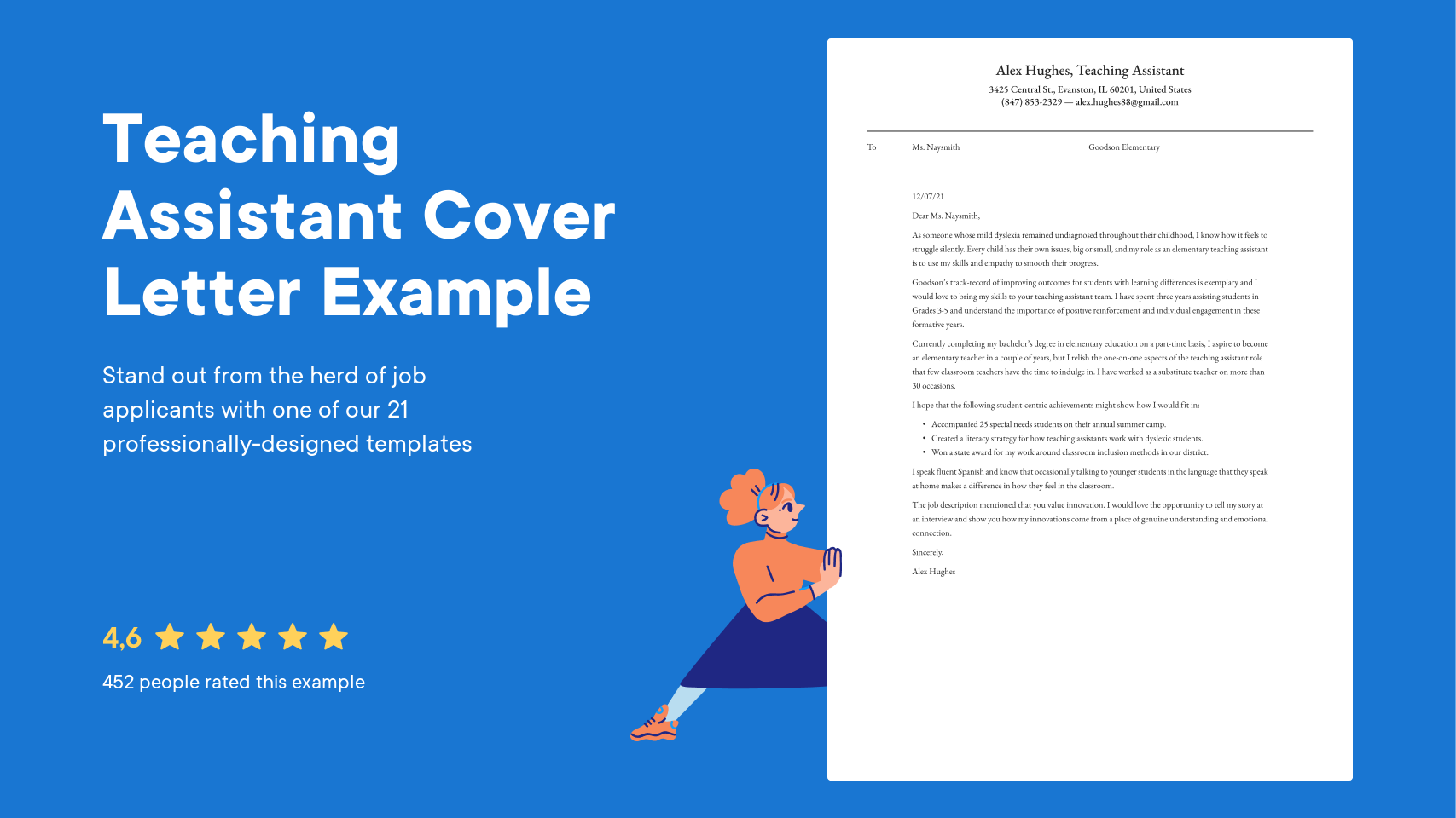 Teaching Assistant Cover Letter Examples Expert Tips Free