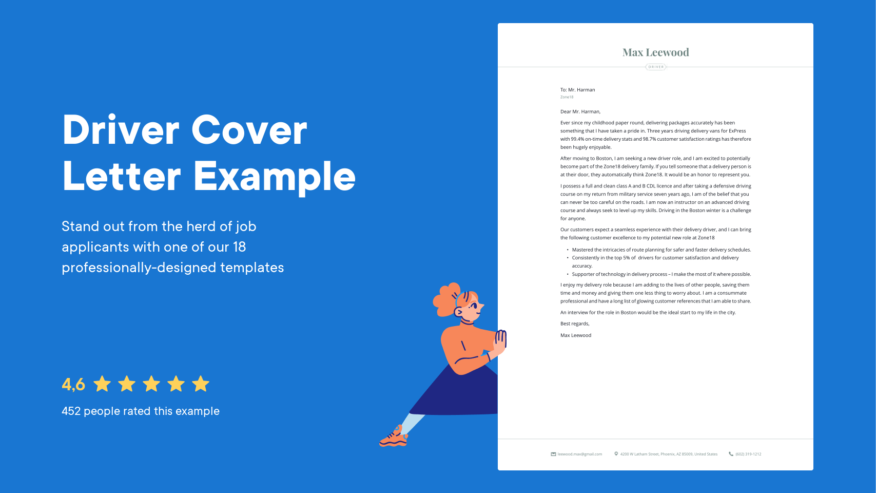Driver Cover Letter Examples Expert Tips Free Resume Io
