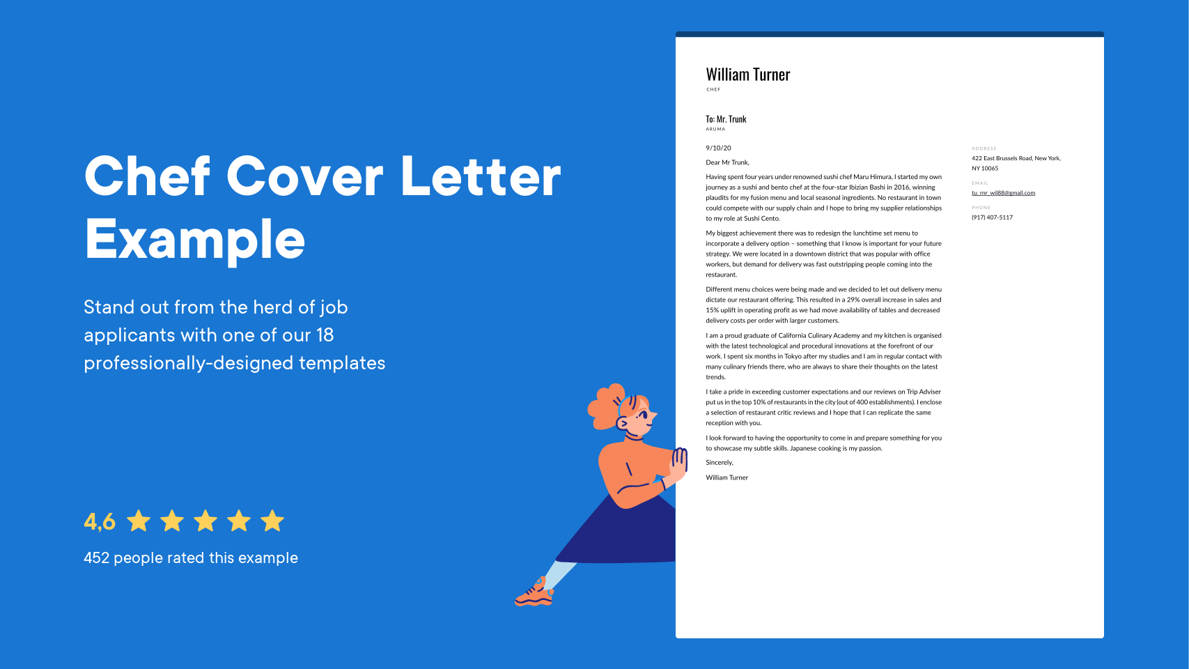 Chef Cover Letter Examples Expert Tips Free Resume Io