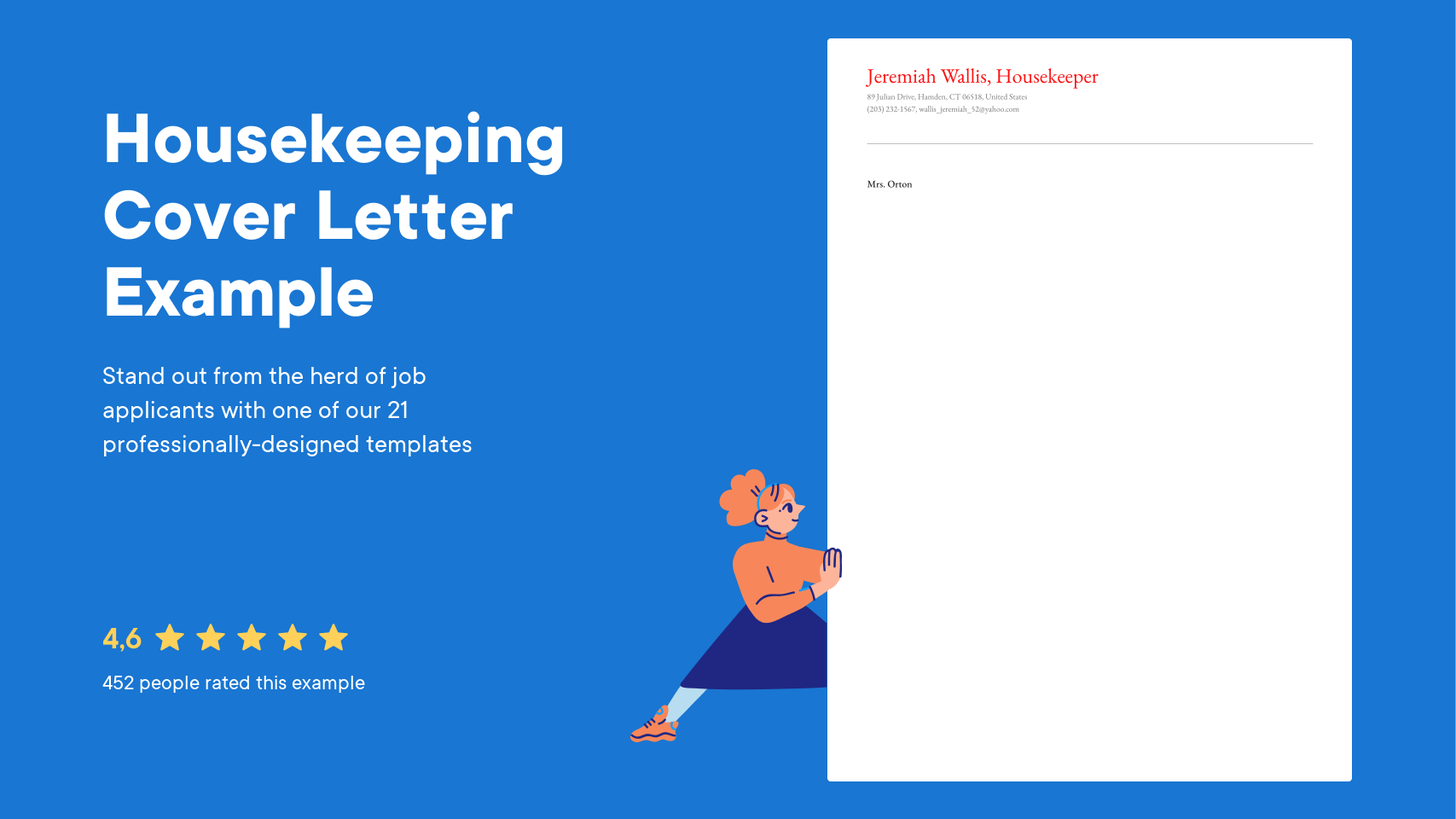 Housekeeping Cover Letter Examples Expert Tips Free Resume Io