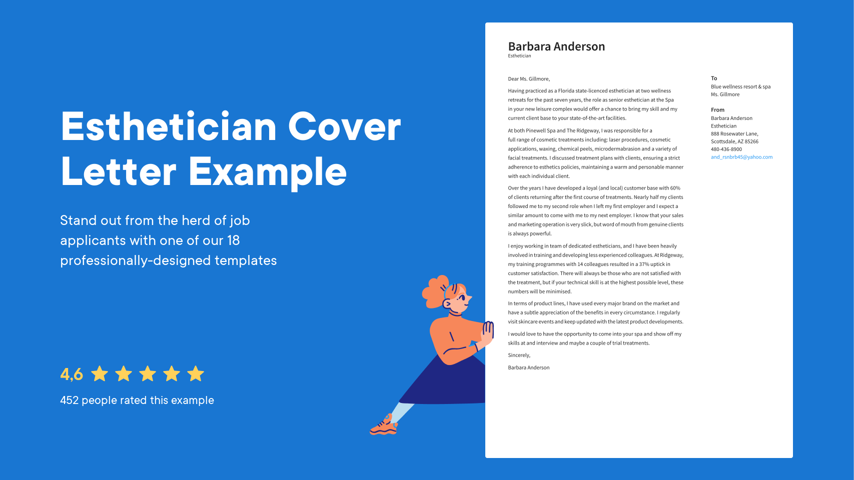 Resume Cover Letter Esthetician Perfect Photos Stylish