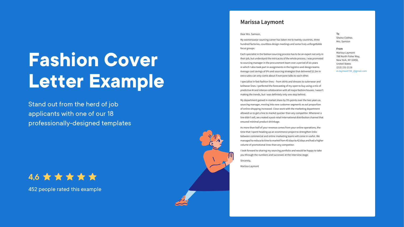 Fashion Cover Letter Examples Expert Tips Free Resume Io