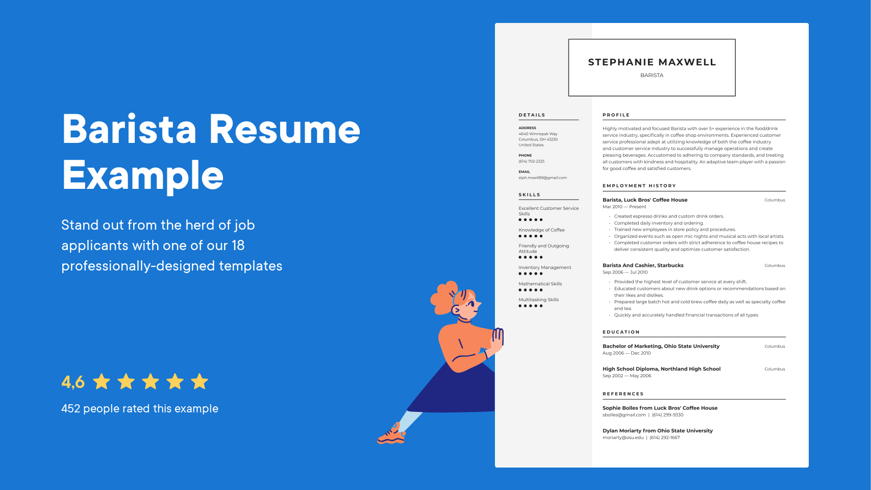 Barista Resume Examples Writing Tips 2021 Free Guide Resume Io