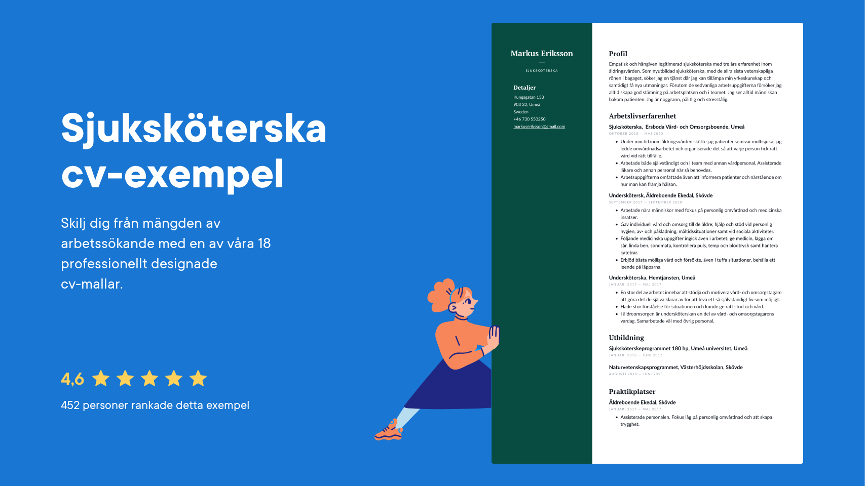 Sjukskoterska Cv Exempel Skrivtips 2021 Gratis Guide