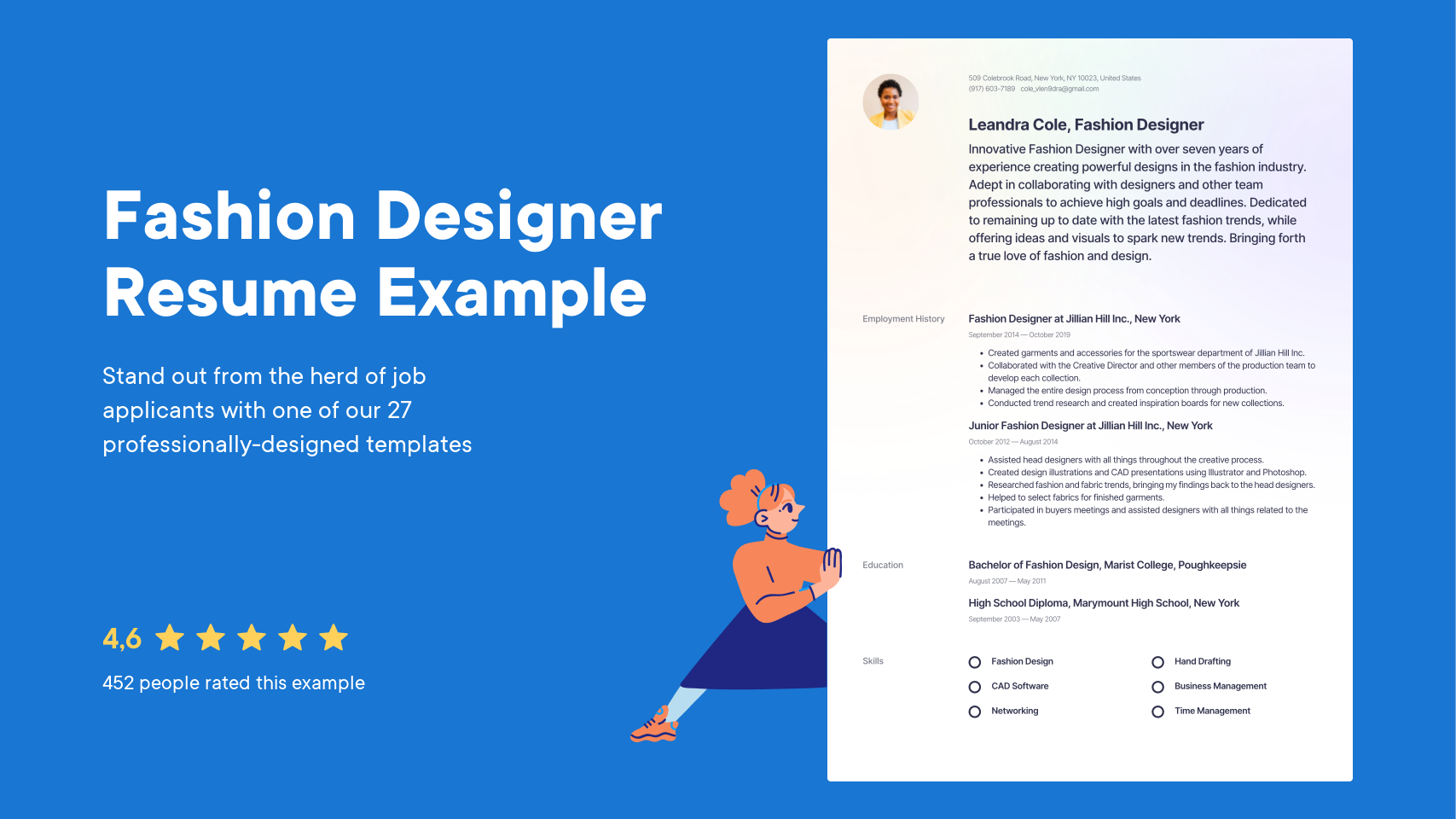 Fashion Designer Resume Examples Writing Tips 2021 Free Guide