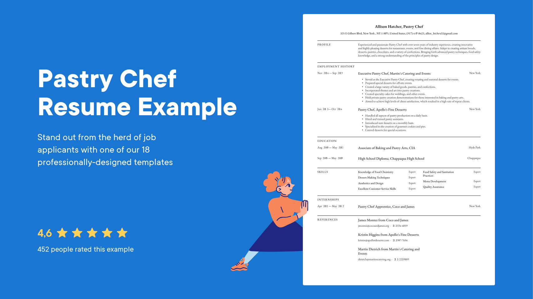 Pastry Chef Resume Examples Writing Tips 2021 Free Guide