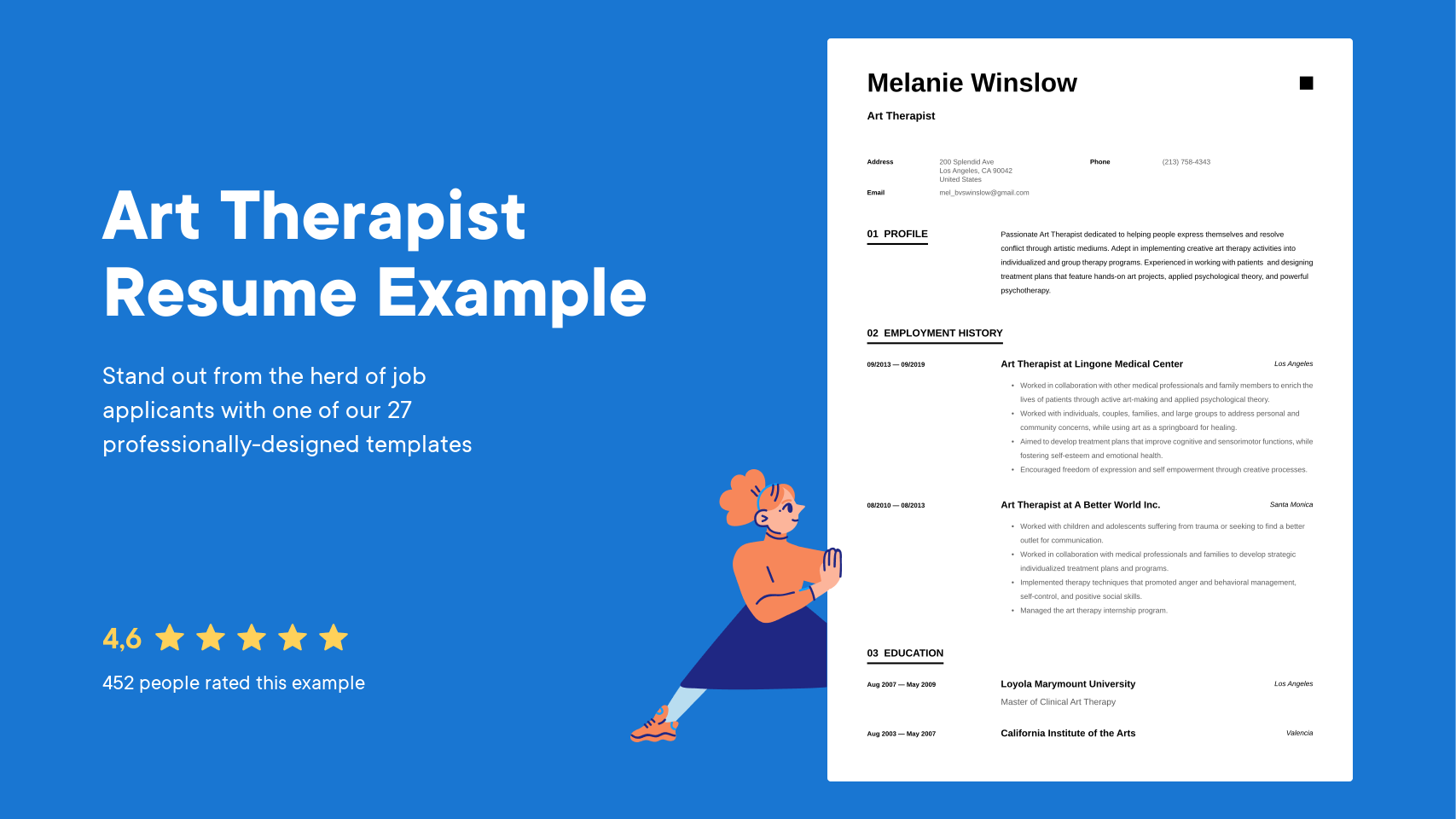 Art Therapist Resume Examples Writing Tips 2021 Free Guide